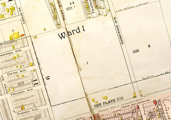 Goads Insurance Map of 1913 future Wilkinson School location