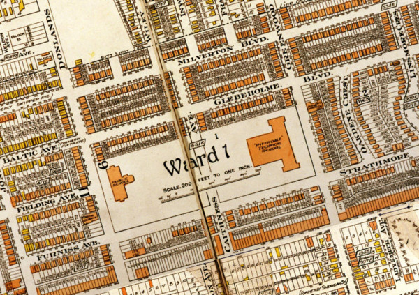 Goads Insurance Map of 1924 Wilkinson School location